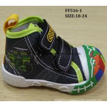 Последний прекрасный инъекции обувь Детская холст обувь детская обувь (FF516-1)
