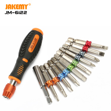 JAKEMY 12 in1 wholesale hardware color ring magnetic precision diy screwdriver set