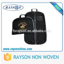 Maßgeschneiderte Reißverschluss Herrenbekleidung Anzug Kleiderbügel Tasche Nonwoven Suit Cover Bag