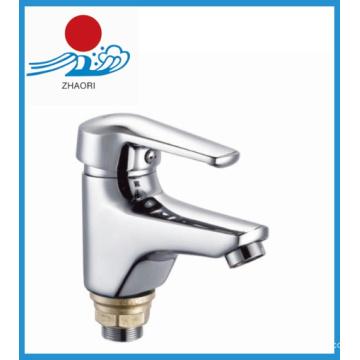 Robinet d'eau en laiton à robinet mélangeur de lavabo (ZR21902-A)