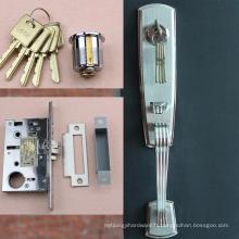 Serrure de mortaise de porte en aluminium de haute qualité, serrure commerciale de porte en verre, plaque de couverture de serrure de porte