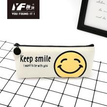 Estojo de lápis de tela bonito estilo manter sorriso personalizado
