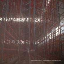 entrepôt métallique VNA système de rayonnage