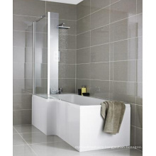 Milan Shower Bath - 1700mm L Shaped with Fixed Screen & Panel
