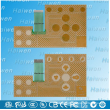 Waterproof capacitance induction touch membrane switch