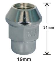 19mm hex bulge acorn lug nuts