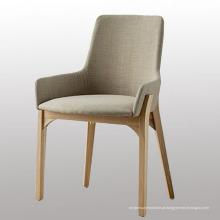 Pernas de madeira, cadeira de jantar para casa de jantar