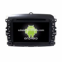 Núcleo Octa! Android 7.1 carro dvd para Fiat F500 com 7 polegadas tela capacitiva / GPS / Link Mirror / DVR / TPMS / OBD2 / WIFI / 4G