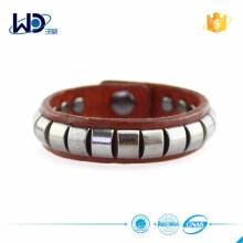 Bracelet en cuir en métal à chaud