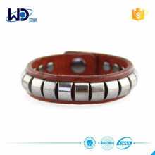 Hot selling Women Metal Leather Bracelet