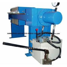 - Prensa de filtro de la cámara de pequeño tamaño hidráulica manual manual, desplazamiento manual de la placa de la prensa de filtro