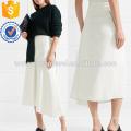 Asymmetric Tactile Twill Midi Skirt Manufacture Wholesale Fashion Women Apparel (TA3029S)