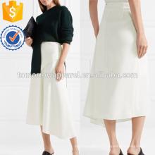 Асимметричная тактильные Саржа MIDI юбка Производство Оптовая продажа женской одежды (TA3029S)