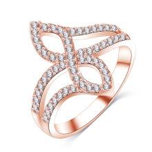 Anel de casamento 18k rosa banhado a ouro infinito (cri01020)