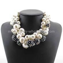 Perlas falsas encantador collar grueso para fiesta