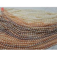 7-8mm AA Grade Rice Shape Zucht Perlen Stränge