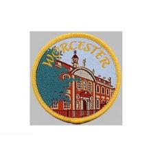 Distintivo tejida con parche bordado redondo de City View (GZHY-PATCH-003)