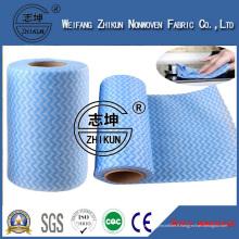 Tissu non-tissé non-tissé hydrophile de Spunlace pour des lingettes