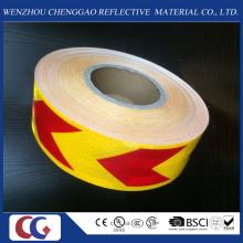 Pet High Visibility gelb und rot Pfeil reflektierende Material Band
