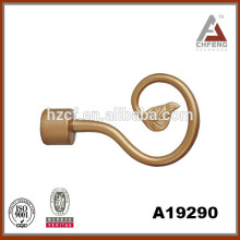 factory direct sales curved shower curtain rod/hook curtain finial/wholesale curtain rings