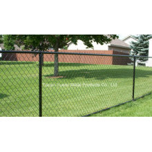 PVC Coated Chain Link Garden Fence/Gold Supplier Garden Security Wire Mesh Railway Fence/PVC Coated Garden Fence