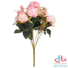 Parede de flores de casamento artificial para decoração