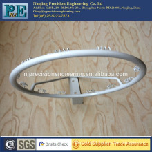 white powder coated steel rolling bending and welding fabrication bracket
