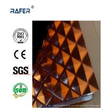 A cuadros / a cuadros en relieve hoja de acero con color (RA-C033)