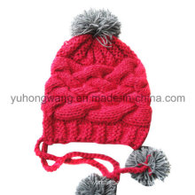 Fashion Winter Lady Acrylic Knitted Beanie Skull Hat/Cap