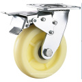Heavy Duty Double Ball Bearing PP/Nylon Caster with Foot Break