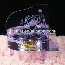 Magnifique instrument de musique en cristal / modèle de piano pour souvenirs cadeaux et décoration à la maison 2015