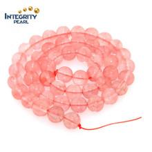 Joyería que hace los accesorios de la pulsera Tamaño natural del cuarzo 6 8 10 12 Cordón de las gotas cristalinas de la sandía