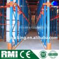Paletten-Lager-Gabelstapler-Schienen-geführtes Gang-Tunnel-Laufwerk im Gestell