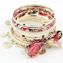 Venda quente Multilayers Bangles do laço Pulseiras do Pearl Braceletes BA41