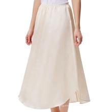 "Kate Kasin Women's 35"" Comfortable Champagne Satin Waist Slip Half Slip Undergarment KK000264-2"