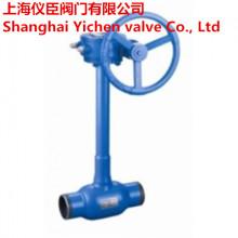 Válvula de bola de Gas soldadas de acero completo de carbono