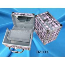 caso cosmético de aluminio de alta calidad con fabricante de piel del PVC