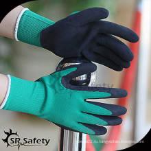 Перчатка с латексным покрытием SRSAFETY 13G, промышленные перчатки