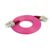 SC LC / PC OM4 Duplex Optic Fiber Patch Cord