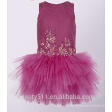 Girl flower girl dress on sale 2017 Summer Girls Fashion red Flower Pear long Sleeve Tulle ED745