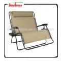 2 Personen Schwerkraft Double Wide Patio Lounger recling mit 2 Becherhalter