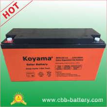 Batterie à gel solaire à cycle profond de 12V 150ah