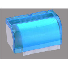 Hotel Publicl Toilet Bluetranslucent Round Plastic Wall Mounted Tissue Paper Dispenser