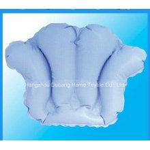 Oreiller de bain gonflable en plastique utilisé dans la salle de bain