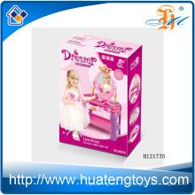 2014 Nuevo juguete plástico del aparador de los niños del artículo, aparador del maquillaje con el espejo para la muchacha H121735