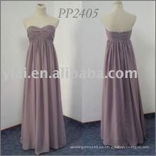 PP2405 vestido sin mangas de la dama de honor de la gasa del amor 2013