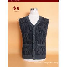 Bn1509 Yak Wool/Cashmere V Neck Cardigan Waistcoat/Clothes/Garment/Knitwear