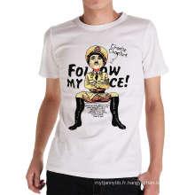 T-shirt personnalisé de conception de mode en gros d'impression d'été