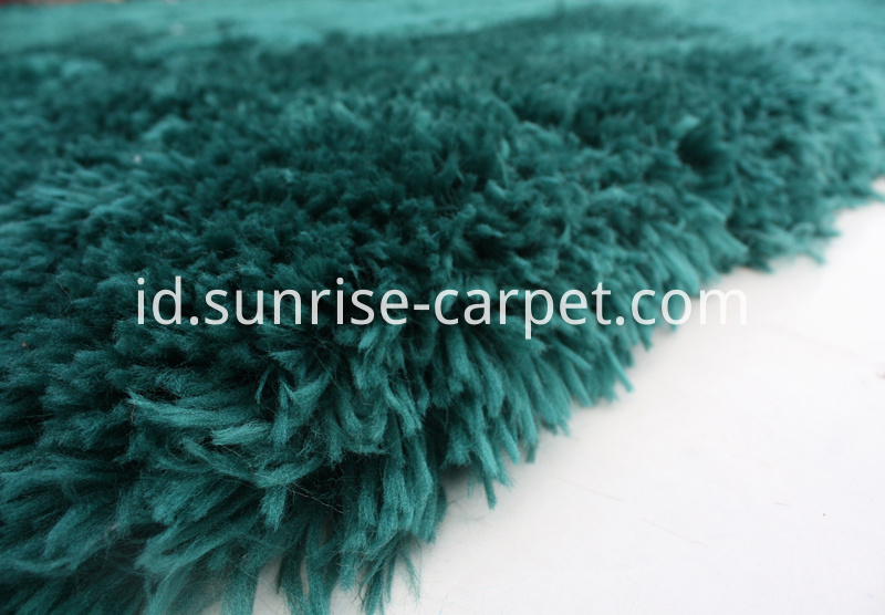 Soft Imitation Fur Shaggy Blue Rug