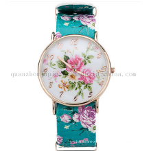 OEM Fashion Leisure Ladies Quartz Watch with Print Bracelet